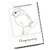 Réalise une fiche d'écriture avec ce Dessin de printemps: une coccinelle sur un trèfle - Coloriages de Printemps à imprimer