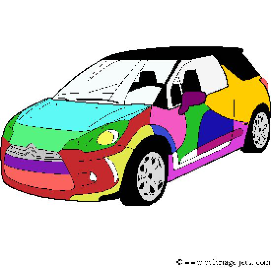 un coloriage de vehicules r alis par little titi. Black Bedroom Furniture Sets. Home Design Ideas