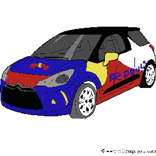 Pin ds3 voiture coloriage on pinterest - Dessin voiture de rallye ...
