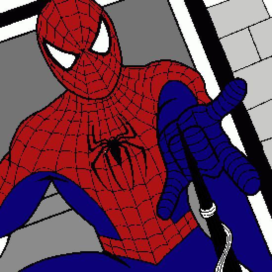 Un coloriage de spiderman r alis par - Jeux de spiderman 7 ...