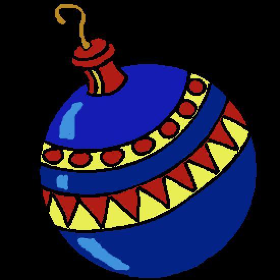 Un coloriage de noel r alis par antoine - Images boules de noel a colorier ...