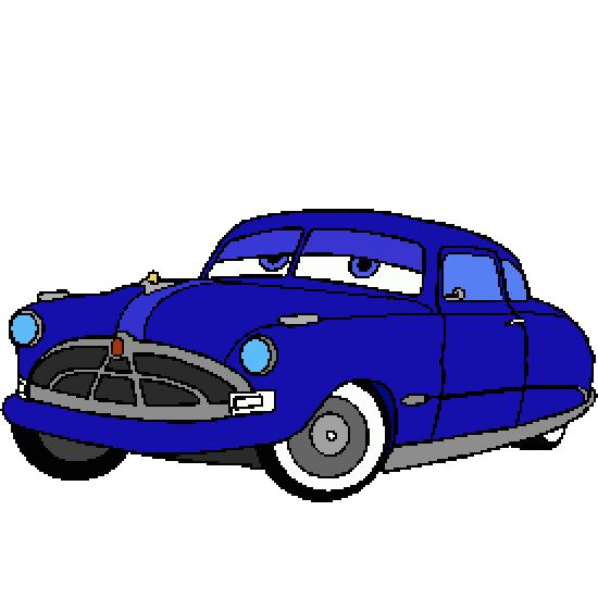 Coloriage Flash Mcqueen Et Doc Hudson.Un Coloriage De Cars Realise Par Gh