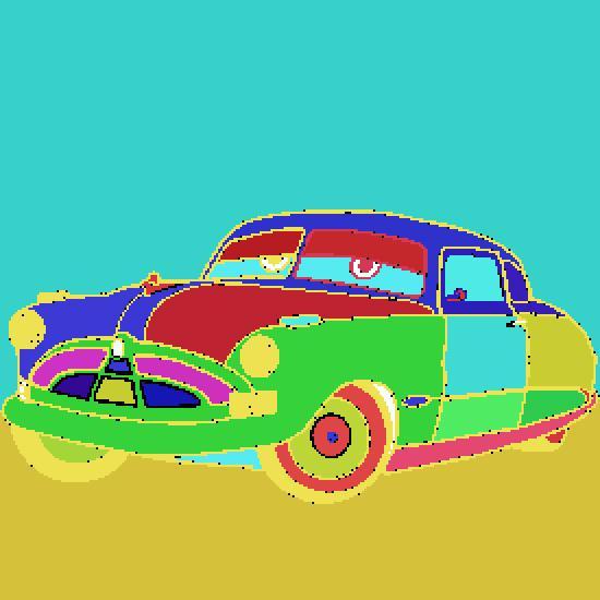 Coloriage Cars Doc Hudson.Un Coloriage De Cars Realise Par Antoine