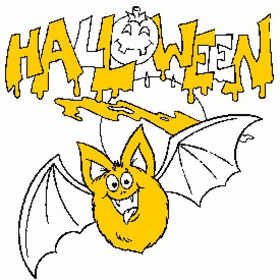 Un coloriage de halloween r alis par - Dessin halloween chauve souris ...