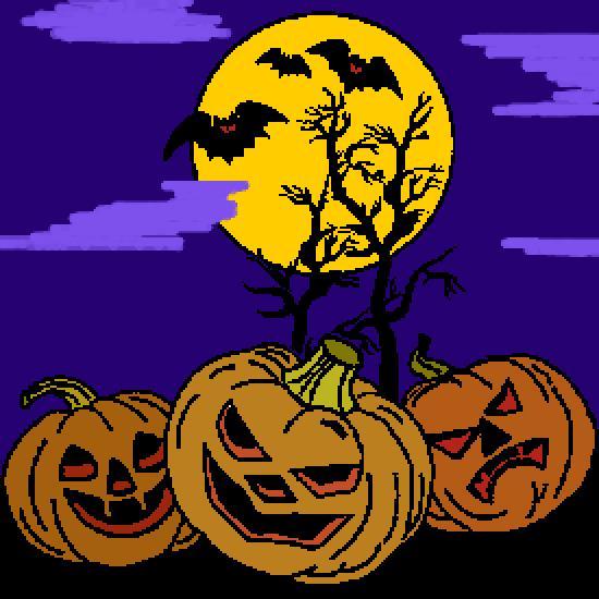 Un coloriage de halloween r alis par stella - Citrouille halloween dessin couleur ...