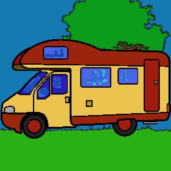 Un coloriage de vehicules r alis par gh - Camping car a colorier ...
