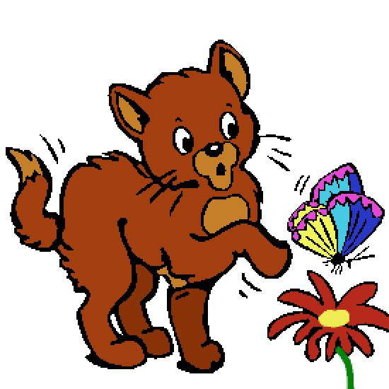 Coloriage Chat Avec Des Fleurs.Un Coloriage De Animaux Realise Par Gh