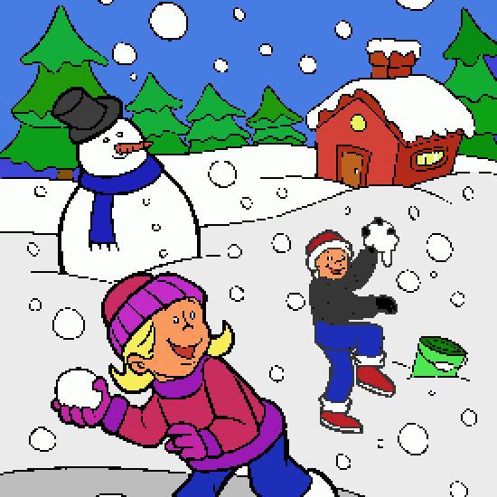 Un coloriage de hiver r alis par gh - Dessin sur l hiver ...
