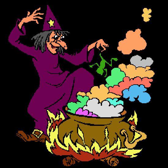 Un coloriage de halloween r alis par antoine - Jeux de sorciere potion magique gratuit ...