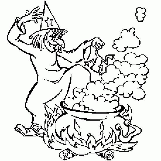 Un coloriage de halloween r alis par geyer patricia57 - Jeux de sorciere potion magique gratuit ...