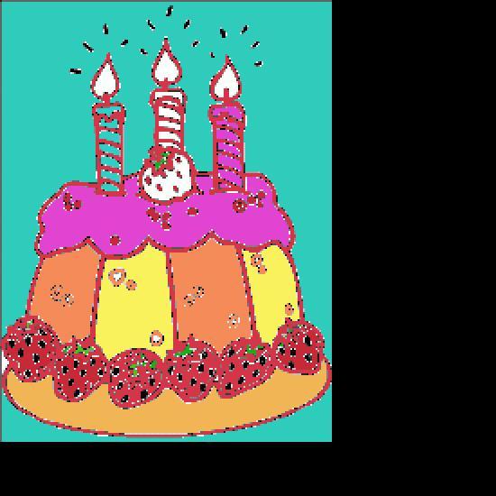 Un coloriage de anniversaire r alis par franck - Dessin bougies anniversaire ...