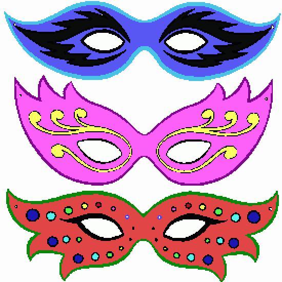 Un coloriage de carnaval r alis par peter - Masque de carnaval a imprimer ...