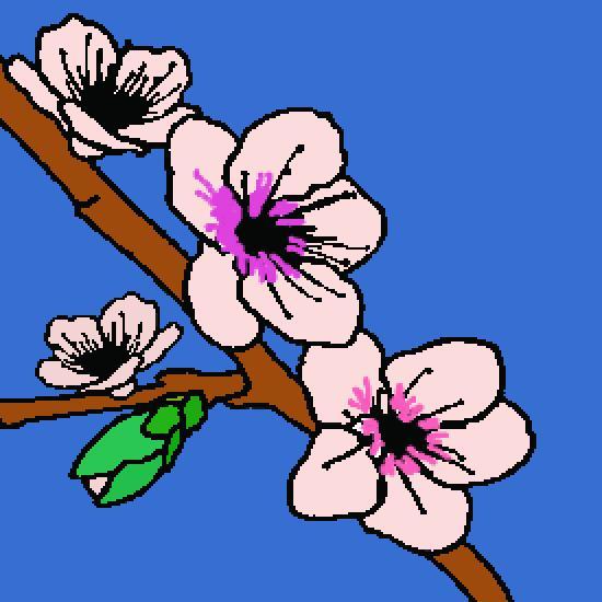 Un coloriage de printemps r alis par gh - Dessin bourgeon ...
