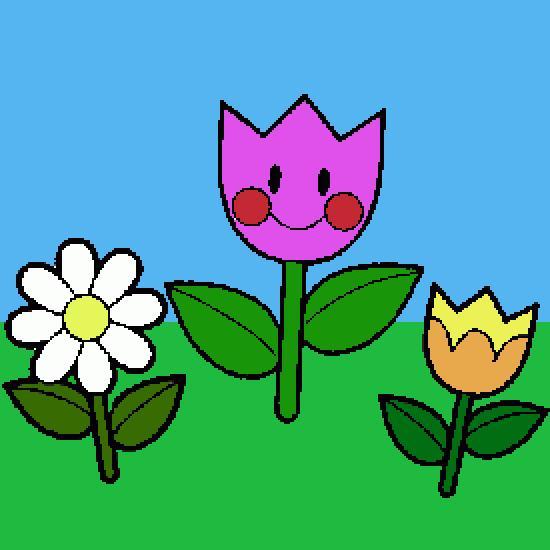 Un coloriage de printemps r alis par gh - Dessin fleurs printemps ...