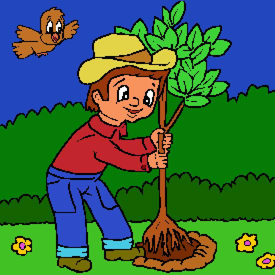 Un coloriage de printemps r alis par gh for Plante un arbre