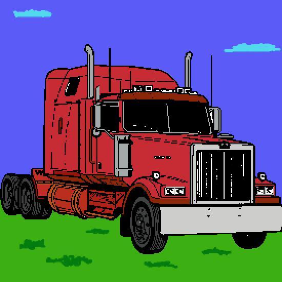 Un coloriage de vehicules r alis par thibault - Dessin de camion americain ...