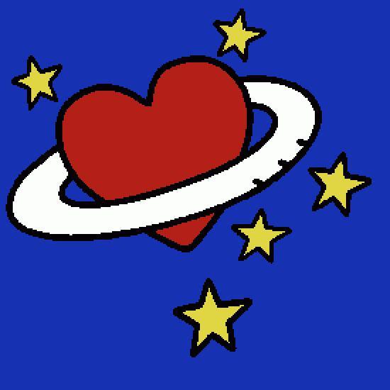 Coloriage Etoile Et Coeur.Un Coloriage De Saint Valentin Realise Par Gene Baptista