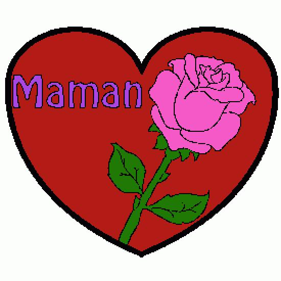 Dessin fete mere rose coeur amp text1 bonne 20f te 20maman amp text2 b pictures to pin on pinterest - Coeur fete des meres ...