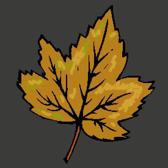 Un coloriage de automne r alis par gh - Dessin feuille morte ...