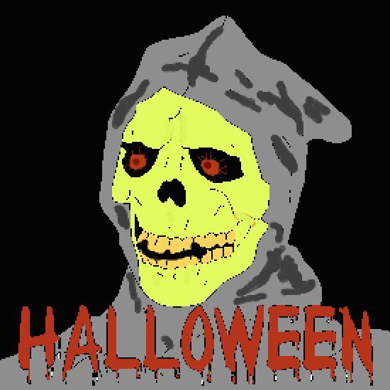 Un coloriage de halloween r alis par gh - Dessin monstre halloween ...