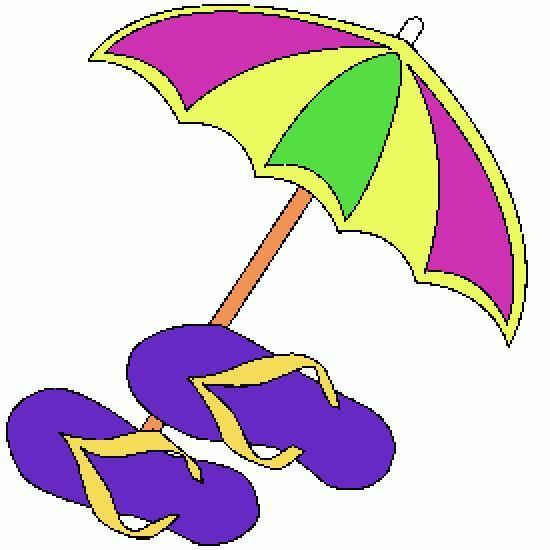 Un coloriage de ete r alis par claudiab - Dessin parasol ...