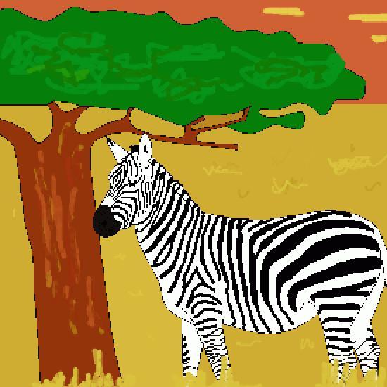 Apprendre A Dessiner Un Zebre