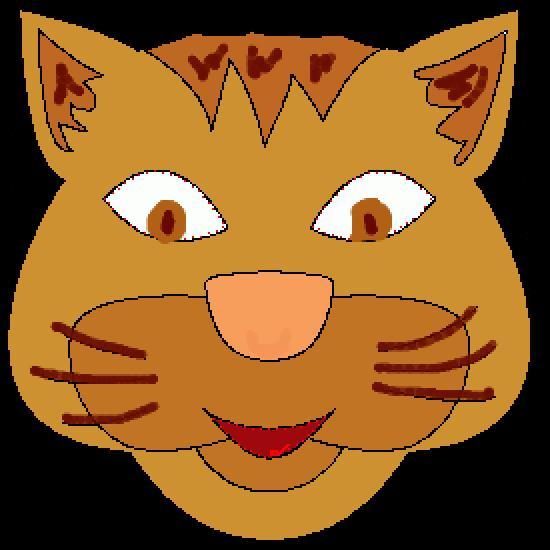Un coloriage de animaux r alis par gh - Chat a colorier en ligne ...