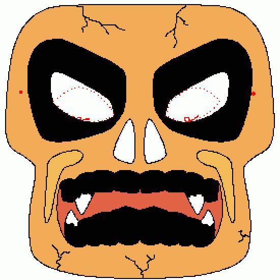 Un coloriage de halloween r alis par gh - Masque halloween a colorier ...