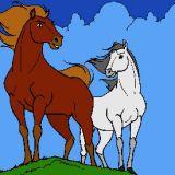 Dessin de chevaux - Coloriages d'animaux en ligne
