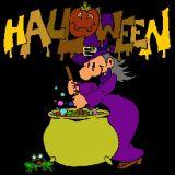 Coloriage d 39 une sorci re et de son chaudron coloriages d 39 halloween en ligne - Jeux de sorciere potion magique gratuit ...