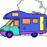 Un coloriage de camping car coloriages de v hicules en ligne - Camping car a colorier ...