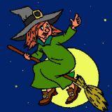 Coloriage de sorci re qui vole sur son balais coloriages - Jeux de sorciere potion magique gratuit ...