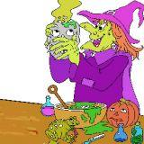Coloriage de sorci re pour halloween coloriages d 39 halloween en ligne - Jeux de sorciere potion magique gratuit ...