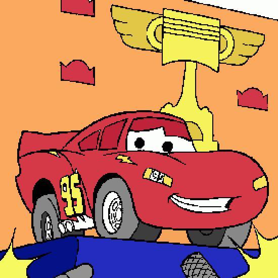 cars flash mac queen course piston cup 7