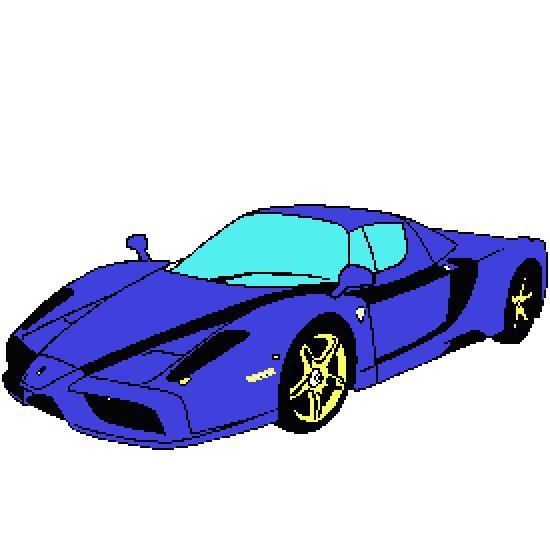Un coloriage de vehicules réalisé par catherine